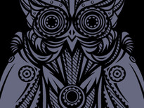 Owl-bots T-Shirt Design by