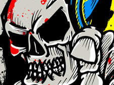 Death Skull DJ T-Shirt Design by