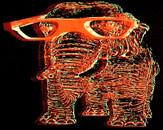3D Elephant with Glasses by lilalengua