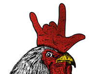 Rocker Rooster T-Shirt Design by