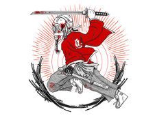 Masked Samurai T-Shirt Design by