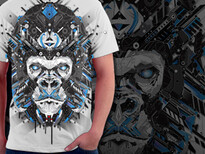 electro apes T-Shirt Design by