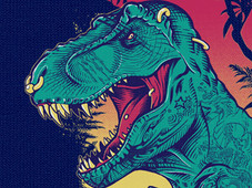 Tattoosaurus Rex II T-Shirt Design by