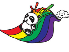 Panda Slide T-Shirt Design by