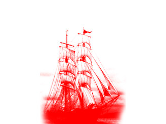 pirate ship red by OddNotion
