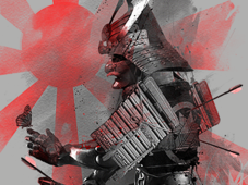 =-Last Goodbye of a Samurai-= T-Shirt Design by