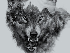 Wolf Collage T-Shirt Design by