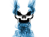 Smoking Skull by Gamblit