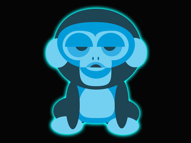 glowing monkey