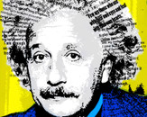 Pop art Einstein by Evi7a