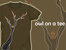 Owl on a Tee T-Shirt Design by