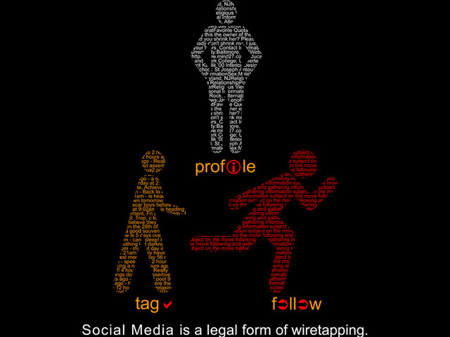 Social Media is a legal form of wiretapping.