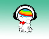 Cute Rainbow Art Kid by shesha