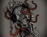 Octo Skull by nicebleed