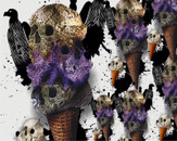 Ice cream skull by lennot