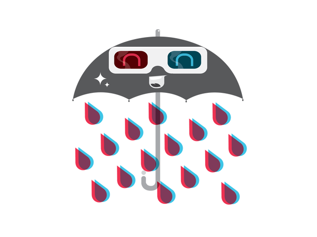 I'm only happy when it rains in 3D!