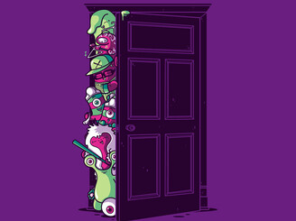 Monsters in the closet by Recycledwax