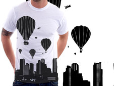 balloons and the city T-Shirt Design by