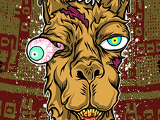 Don't mess with the llama! Art Print  click to zoom Don't mess with the llama! T-Shirt Design by
