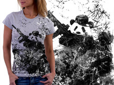 Self Defense Panda T-Shirt Design by