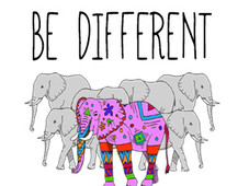 Be Different T-Shirt Design by