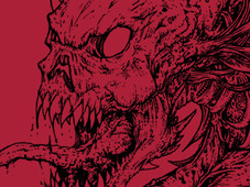 Skull Dragon T-Shirt Design by