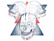 Triade Skull T-Shirt Design by