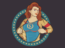 Women Heroes T-Shirt Design by