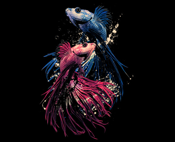 beta fish aquarium tshirt