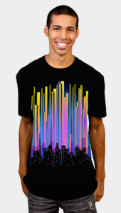 Techno City Lights T-Shirt