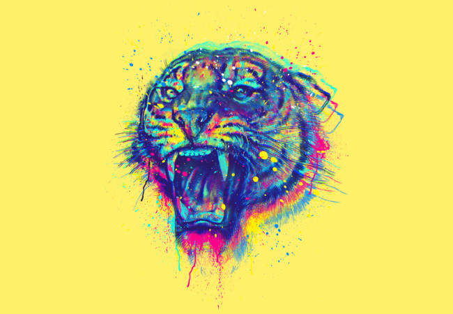 Painted Tiger  Artwork