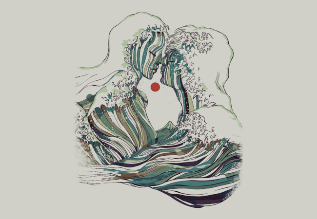 Kissing The Wave  Artwork