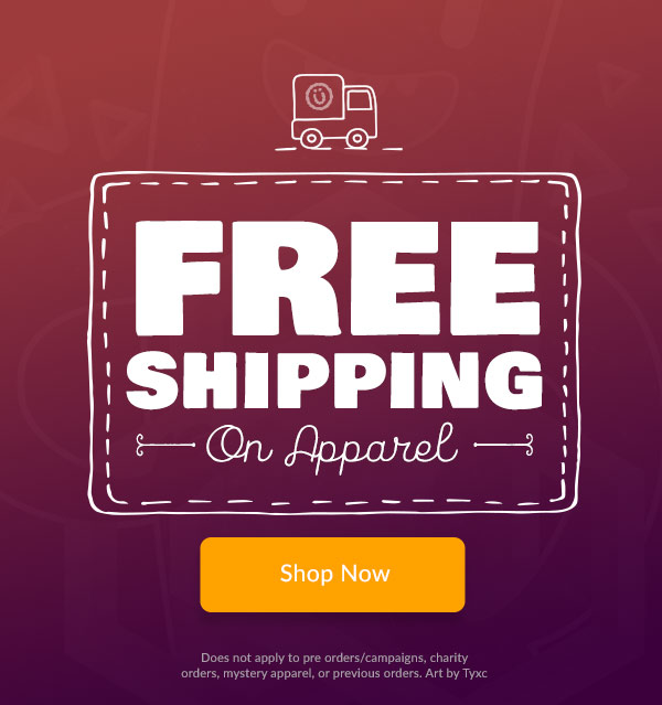 Free Shipping on apparel
