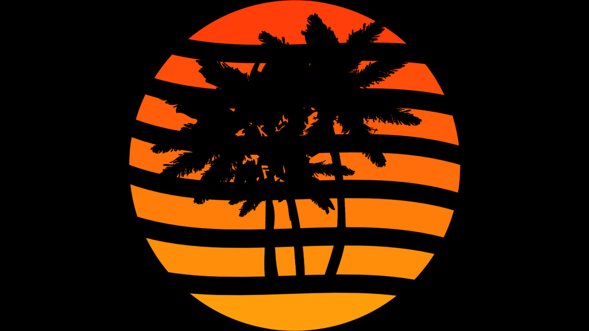Palm Trees Grunge Sunset T Shirt By Ddtk Design By Humans