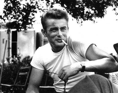james dean cigarette smoking white tshirt tee rebel without a cause film movie noir bw