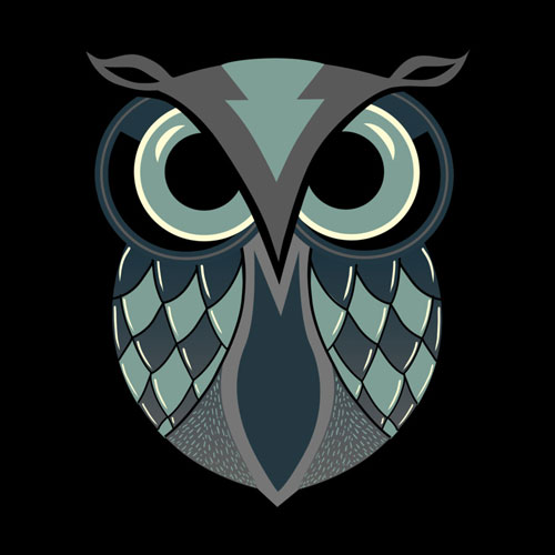 the deceiver pinkstorm owl vector simple cool