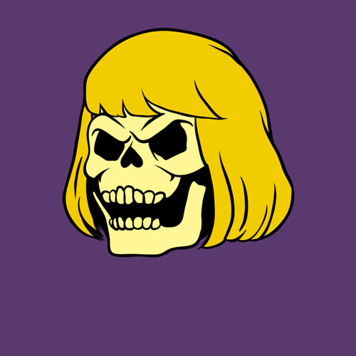 skeleman he man skull vintage character cartoon vector cool