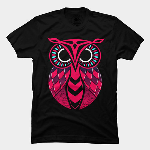 true colors owl character cartoon symbol vector symbol tshirt tee