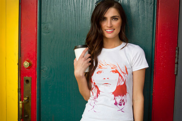 tattoo girl tshirt tee model girl graphic tee gradient coffee