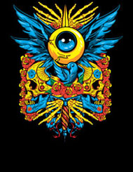 design by disorder eye color bright neon skull flower wings third eye see you