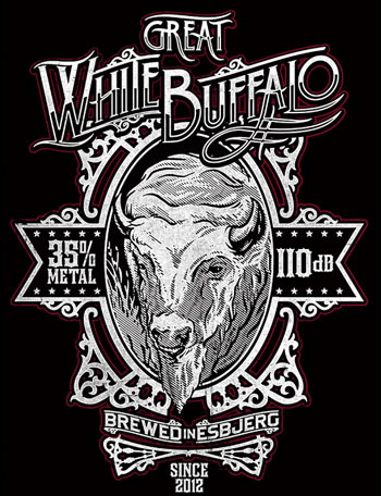 white buffalo process work typography graphic design