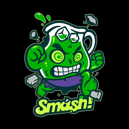 hulk marvel comic kool aid smash cartoon character pop culture tshirt tee smash