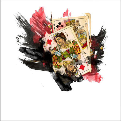 gambler 7sixes watercolor playing cards