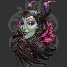malificent disney evil queen medusadollmaker tshirt tee