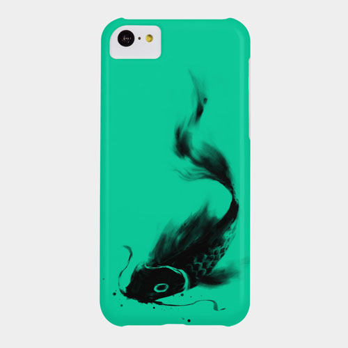 koi fish asian cool ink drawing paint brushstroke painting onecolor black and white bw phone case tshirt tee