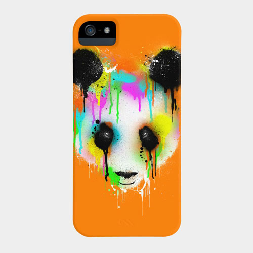 panda drip paint rainbow color cool tshirt tee design art phone case iphone5 iphone4 apple