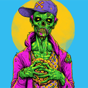 I got Brains Neon Zombie