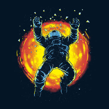 neon astroanaut hero apocalypse sun planet space stars apocalypse world earth gravity tshirt tee