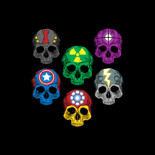 avengers skulls parody pop culture disassembled fanboy30 flash ironman
