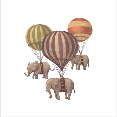 flight of the elephants by igo2cairo balloon cute funny vintage